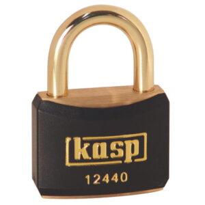 124 40mm Keyed ALike Coloured Brass Padlock In Black K12440BLAA1