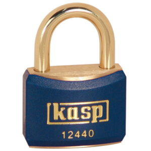 124 40mm Coloured Brass Padlock In Blue K12440BLUD