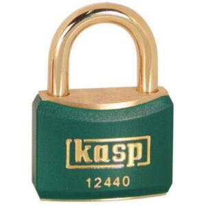 124 40mm Coloured Brass Padlock In Green K12440GRED