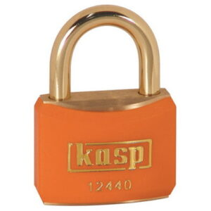124 40mm Keyed ALike Coloured Brass Padlock In Orange K12440ORAA1
