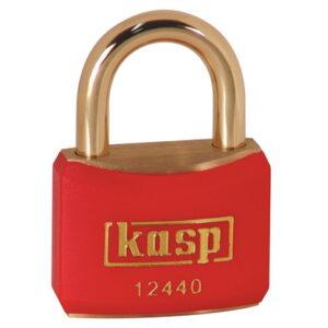 124 40mm Keyed ALike Coloured Brass Padlock In Red K12440REDA1