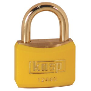 124 40mm Keyed ALike Coloured Brass Padlock In Yellow K12440YELA1