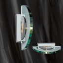 8035CC Glass And Chrome Wall Light