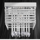 Searchlight 5116-6CC Metropolis 6 Light Chrome/Crystal Ceiling Fitting