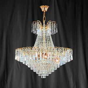 Searchlight 10480-65 Icicle Gold Finish/Crystal