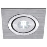 111871 Lelex 1 LED Downlight In Brushed Aluminium With A White LED