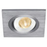 111872 Lelex 1 LED Downlight In Brushed Aluminium With A Warm White LED