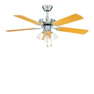 Global 42″ Genoa Stainless Steel Ceiling Fan With 3 Lights