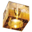 114962 Yudi Low Voltage Square Downlight In Amber And Clear