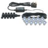 Saxby Lighting 13994 Ikon Square 30 10 Light Pre-Wired IP67 Outdoor Garden LED Decking Kit In Blue