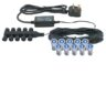 Saxby Lighting 13995 Ikon Round 15 10 Light Pre-Wired IP67 Outdoor Garden LED Decking Kit In Blue