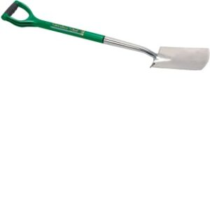 14418 Soft Grip Treaded Border Spade With An Offset Handle In Stainless Steel
