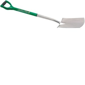 14420 Extra Long Stainless Steel Soft Grip Threaded Garden Spade With Offset