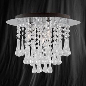 Searchlight 1644-4CC Crystal 4 Light Chrome/Crystal Modern Ceiling Light