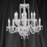 Searchlight 1712-12 Hale 12 Light Chrome/Crystal Chandelier