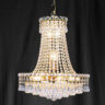 Searchlight 185-21 Bohemia Gold Plated/Crystal Chandelier
