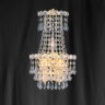 Searchlight 185-3 Chateau Gold Plated/Crystal Chandelier