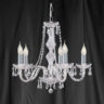 Searchlight 215-5 Hale 5 Light Georgian Style Crystal Chandelier