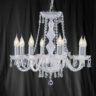 Searchlight Hale 218-8 Georgian Style 8 Light Crystal Chandelier