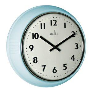 Acctim 27059 Delia Wall Clock In A Duck Egg Blue Colour