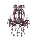 Searchlight 3805-5PL Marie Therese 5 Light Plumb Colour Mini Chandelier Fitting