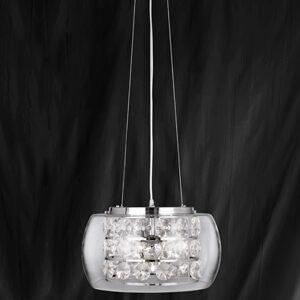 Searchlight 3810-10CC Safia Chrome/Glass 10 Light Ceiling Light