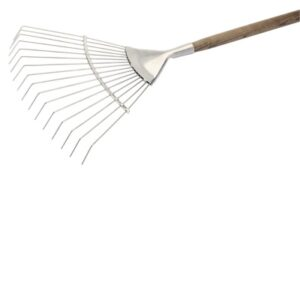 44983 Stainless Steel Lawn Rake With An FSC Ash Handle