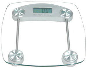 Chrome And Glass Digital Electronic Bathroom Scales