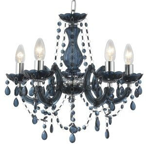 Searchlight 699-5AZ Marie Therese 5 Light Royal Blue Colour Chandelier