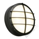 Saxby Lighting 7014B Lake IP65 28w 2D Bulkhead Light With Front Cover Grill In A Textured Black Finish