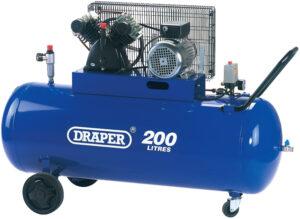 77002 200 Litre 230V V-Twin Belt Driven Air Compressor
