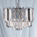 Searchlight 8415CC Sigma 4 Light Chrome/Acrylic Ceiling Light