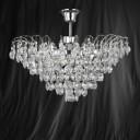 Searchlight 9070-48CC Limoges Chrome/Crystal Semi Flush 3 Light Chandelier