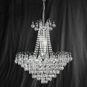 Searchlight 9071-52CC Limoges Chrome/Crystal 6 Light Chandelier