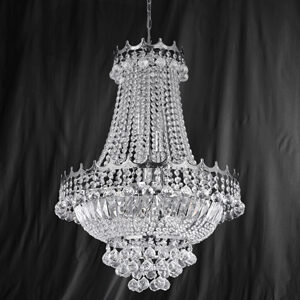 Searchlight 9112-52CC Versailles Chrome/Crystal 9 Light Chandelier