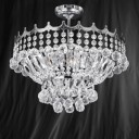 Searchlight 9113-39CC Versailles Chrome/Crystal Semi Flush 5 Light Chandelier