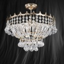 Searchlight 9113-39GO Versailles Gold Finish/Crystal Semi Flush 5 Light Chandelier