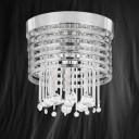 Searchlight 9116-6CC Metropolis Chrome/Crystal 6 Light Ceiling Fitting