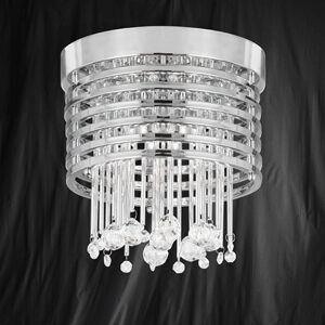 Searchlight 9116-6CC Metropolis Chrome/Crystal 6 Light Ceiling Fitting
