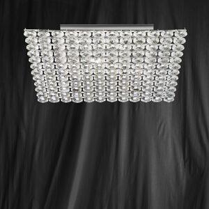 Searchlight 9175-5CC Safia Chrome/Crystal Square Ceiling Light