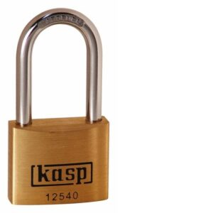 125 40mm Premium Brass Padlock – Long Shackle Keyed Alike K12540L40A1