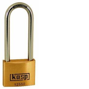 125 50mm Premium Brass Padlock – Long Shackle K12550L80D