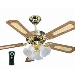Global Santa Monica Polished Brass 42 Ceiling Fan With 3