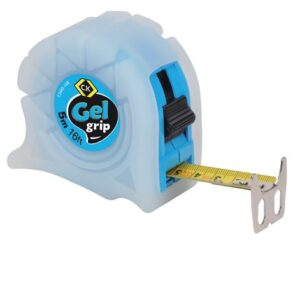 5M/16FT Gel Grip Tape Measure In Blue T3445-16B
