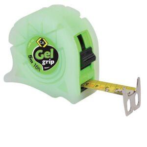 5M/16FT Gel Grip Tape Measure In Green T3445-16G