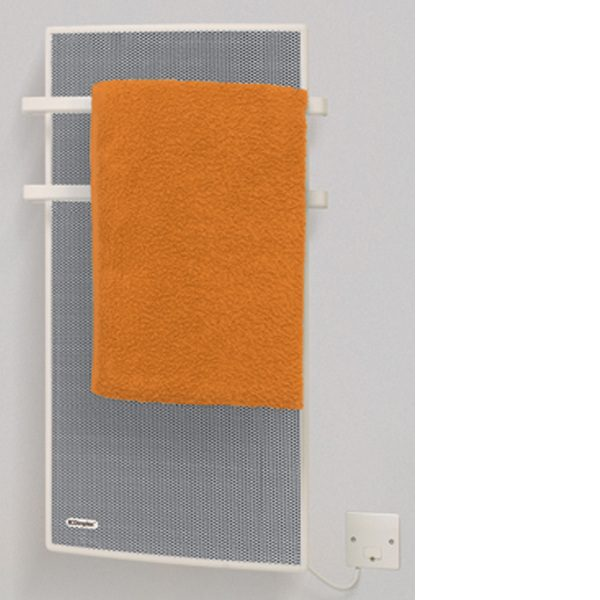 dimplex apl100 1kw radiant panel bathroom heater and towel rail