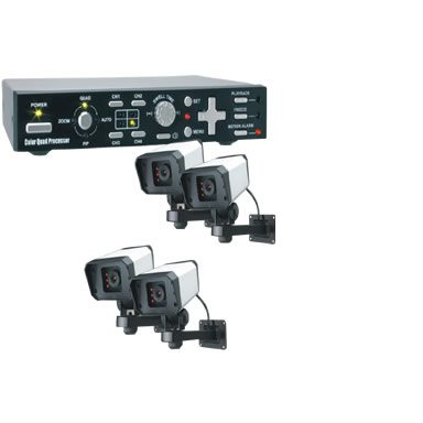 Byron Cs74q Colour Quad Camera Security System Innovate