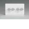 Varilight HDQ44S 4 Gang 250W 2-Way Push-On Push-Off Dimmer On A Twin Plate