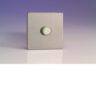 Varilight 1 Gang 1000W 2-Way Push-On Push-Off Dimmer (Twin Plate) In Brushed Steel HDS91S