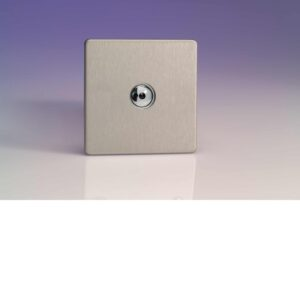 Varilight iDSi401MS 1 Gang 400W 1 Way Remote Control / Touch Dimmerswitch In Brushed Steel